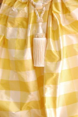 1029 Yellow-offwhite plaid silk