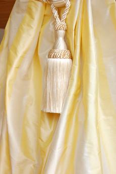 1025 Yellow-offwhite striped silk