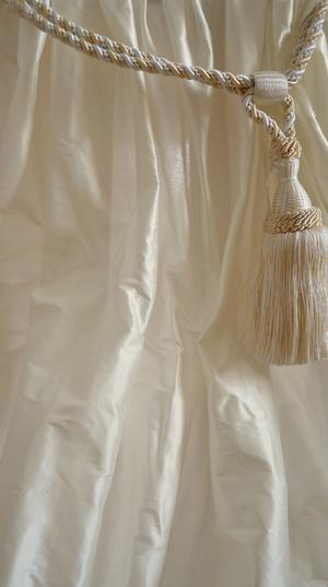 1031 Creme shantung silk